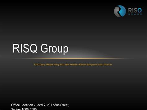 Ppt Mitigate Hiring Risks With Reliable Background Check Risq Background Screening Services By Risq Issuu