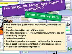Quiz which has been attempted 7152 times by avid quiz takers. AQA English Language Paper 2 Question 5 | Teaching Resources