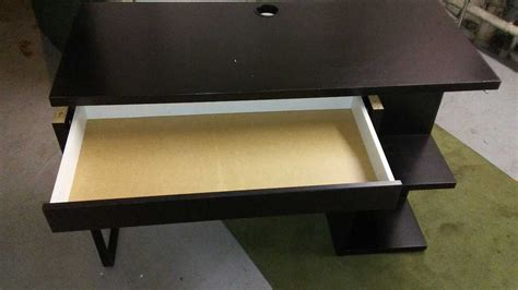 letgo micke desk w integrated storage in monitor nj