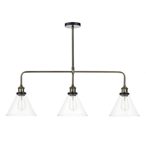 vintage style light fitting three in a row pendant light
