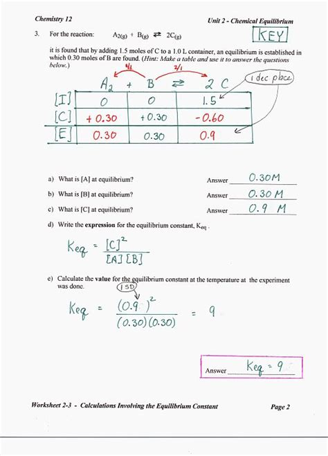 chemistry unit 4 worksheet 2 answers worksheets for all