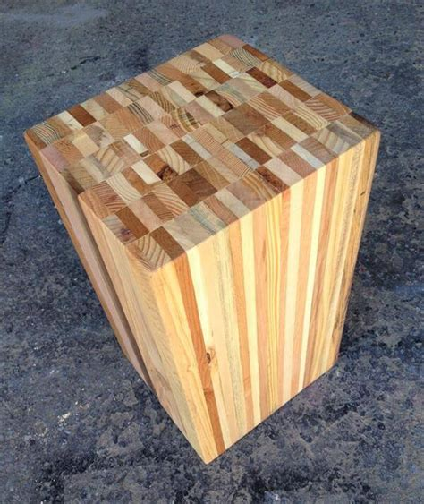 diy wood end table recycled pallet wood stool end table pallet