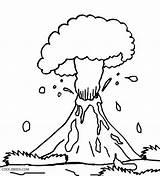 Volcano Coloring Eruption Preschool Explosion Drawing Volcanic Hawaii Printable Hawaiian Cool2bkids Getdrawings Popular sketch template