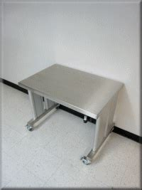 rdm stainless steel adjustable height table model ip ss