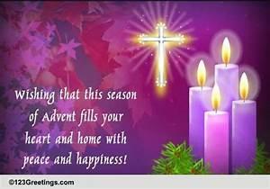 Happy 1 Advent : happy and peaceful advent free advent ecards greeting ~ Haus.voiturepedia.club Haus und Dekorationen