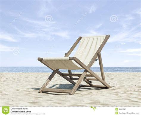 chaise de plage carrefour chaise longue sur la plage image stock image du ciel 36001797