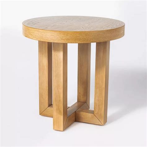 How much is too much? is a question i'm asked a lot. Rose Park Round Wood End Table - Threshold™ designed with Studio McGee in 2020   Wood end tables ...