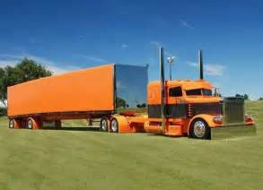 Black and Orange Peterbilt