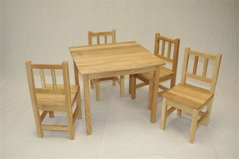 kids table   chairspcs set  natual ebay
