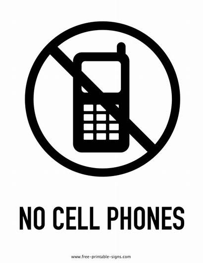 Cell Sign Phones Printable Signs Drink Allowed