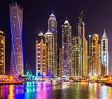 Dubai Cityscape City Skyscraper Building Lights