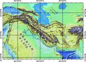 Zagros Mountains Map Location