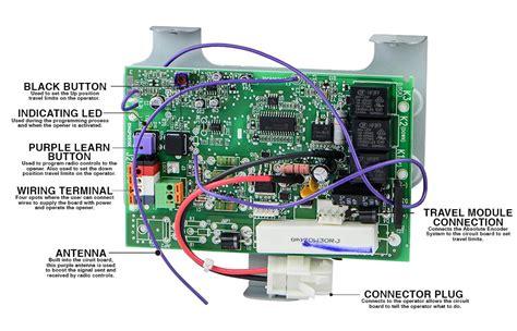 liftmaster  jackshaft garage door opener circuit board