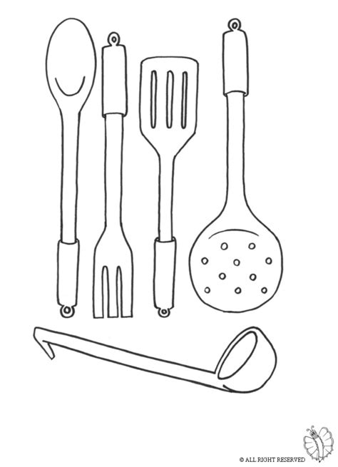print cooking utensils  coloring