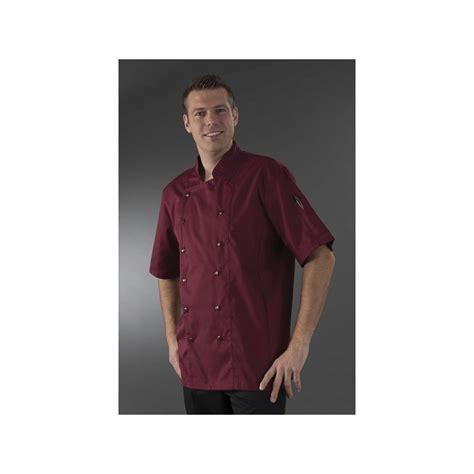 veste traiteur bordeaux manches courtes label blouse net