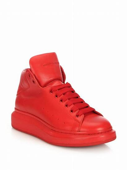 Sneakers Mcqueen Alexander Leather Shoes Lyst