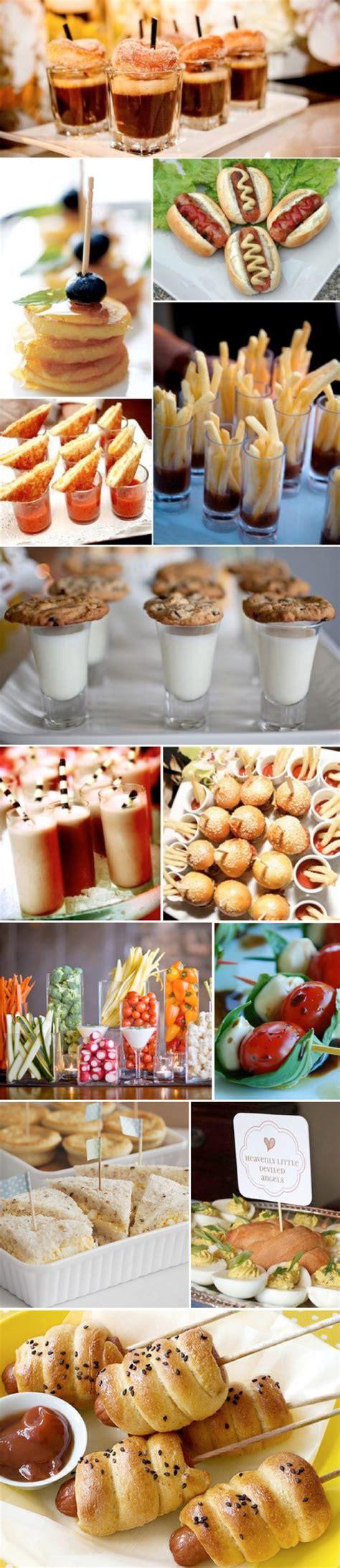 fingerfood für wedding buffet menu ideas
