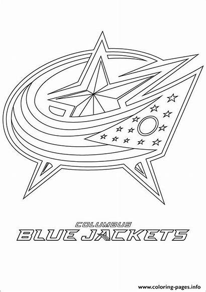 Nhl Coloring Hockey Jackets Columbus Pages Printable