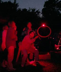 Why do astronomers use red flashlights?