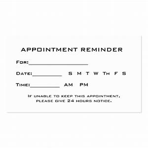 Appointment reminder cards template free flashek Choice Image