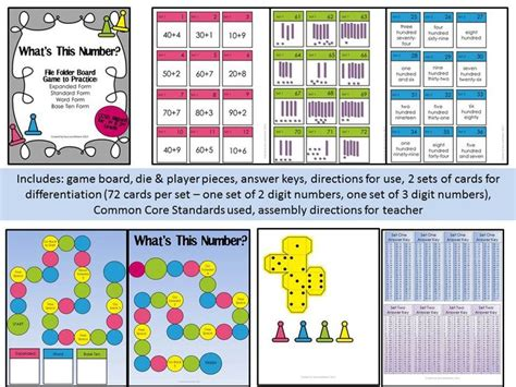 Place Value File Folder Game  Expanded Form, Grade 1 And