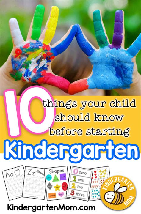 ten things your child should before starting 603 | KindergartenPreparedness
