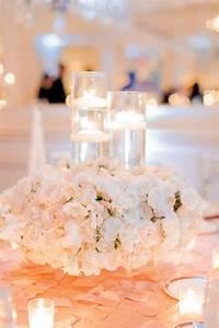 Romantic, Floral, U0026, Candle, Centerpiece
