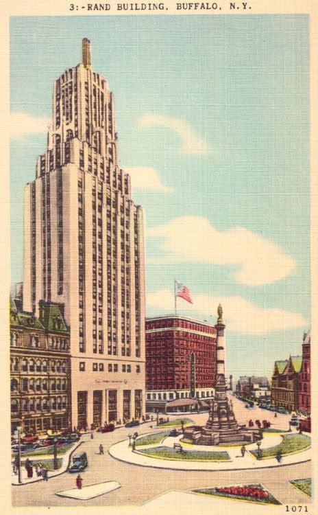 Apartment Buildings For Sale Buffalo New York by Rand Building Buffalo New York Vintage Postcard