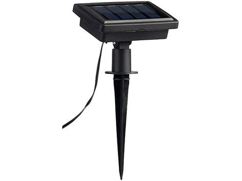 Luminea Schirmbeleuchtung: Solar LED Sonnenschirm