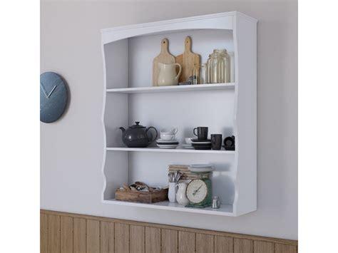 Polar White Wall Mounted Shelves Painted White 3 Book