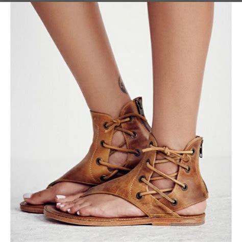 lace  thong  zipper women flat beach sandals