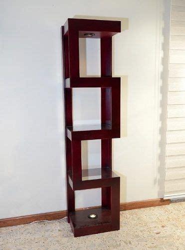 mueble esquinero  luz de madera mdf dnqnp