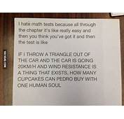 I Hate Math Tests Because All Through The Chapter Its