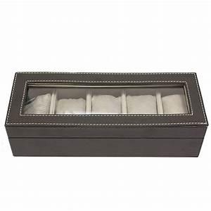 Coffret Rangement Montre : coffret boite de rangement simili cuir pour 5 montres ~ Teatrodelosmanantiales.com Idées de Décoration