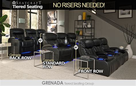 home theater seating layout ideas seatcraft tiered home theater seating without risers