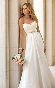 a line strapless sweetheart stunning ivory chiffon wedding With a line sweetheart wedding dresses