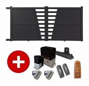 Portail 3 50m : portail aluminium coulissant motoris seved ~ Premium-room.com Idées de Décoration