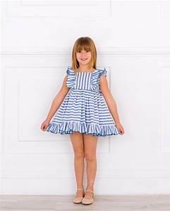 Outfit Vestido Rayas Azul u0026 Lazo Espalda Rojo - Outfits | Missbaby