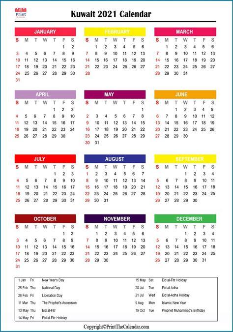 holiday calendar kuwait kuwait  holidays