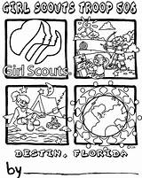 Scout Coloring Pages Scouts Daisy Law Brownies Junior Printable Heavenly Promise Brownie Template Custom Popular Quantity Coloringhome Colorinkids sketch template