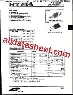 IRF9540 Datasheet(PDF) - Samsung semiconductor