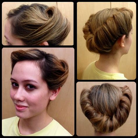 Easy 1940s Hairstyles For Hair by Queue Curl Other Hair Hair Styles Roll Hairstyle