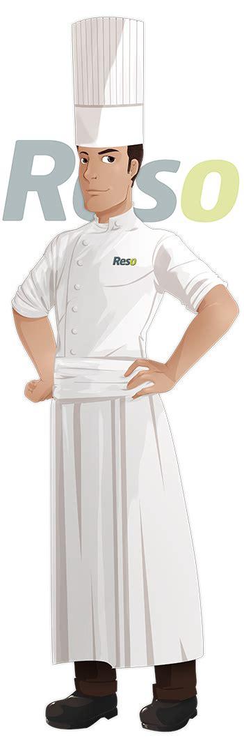 tenue de travail du chef de cuisine reso le