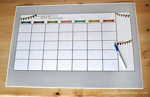 Whiteboard Selber Bauen : diy dry erase calendar darling doodles ~ Markanthonyermac.com Haus und Dekorationen