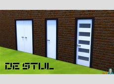 De Stijl Modern Front Door #6 SNW SimsNetworkcom