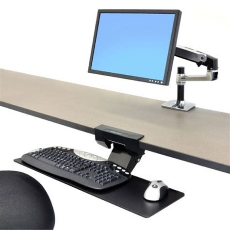 tiroir clavier sous bureau bras pour clavier sous bureau neo flex