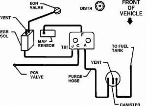 Vacuum Hose Diagram For Chevy Pickup 1991