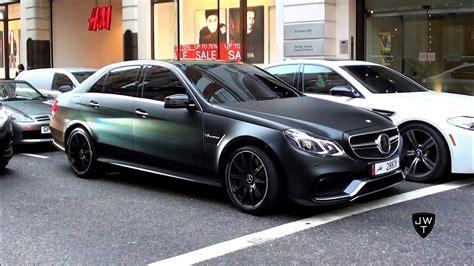 (matte) Black 2013 Mercedes-benz E63 Amg's In London