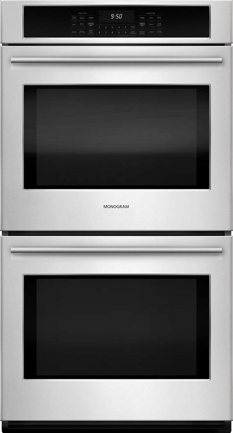 monogram zekshss   electric double wall oven stainless steel