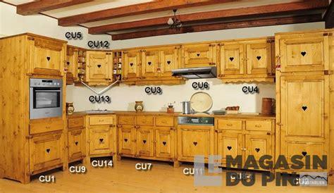 cuisine en pin massif meuble haut sur hotte cuisine chamonix en pin massif le